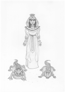 Cleopatra with Crocodiles